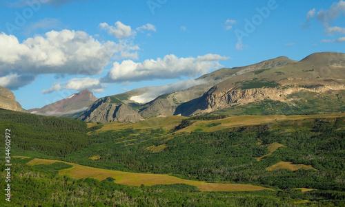 Panorama of the Mountainous Landscape  Near Glacier National Park, Montana Tapéta, Fotótapéta