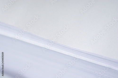 Fototapety, obrazy: white sheet of paper on white background