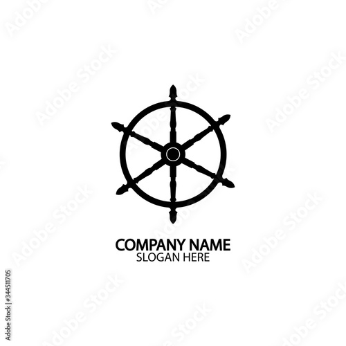фотография Ship and boat helm steering wheel  boat and maritime rudder icon  ship steering wheels - vector