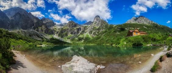 Zielony Staw Kieżmarski w Tatrach, panorama