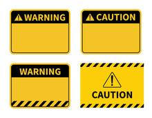 Warning Sign. Blank Warning Sign On White Background. Vector Illustration