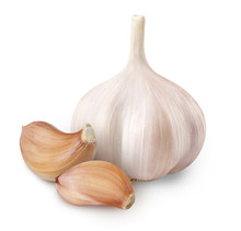 Whole Garlic And Cloves Isolat...