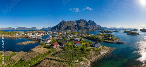 Photo Henningsvaer Lofoten is an archipelago in the county of Nordland, Norway