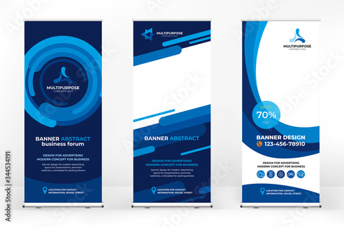 Canvas Print Roll-up design set, creative banner abstract background, banner for presentation