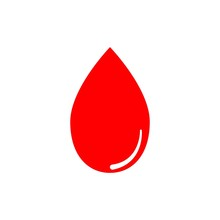 Red Blood Drop Vector Graphic ...