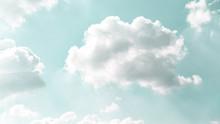 Light Soft Mint Color Sky With...