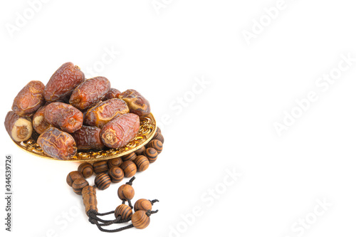 Date fruits or dry dates isolated on white background Tapéta, Fotótapéta