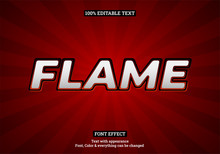 Red Flame Style, Editable Text...