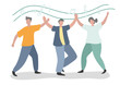 Cartoon people dancing It is a vector image or illustration that can be used for design and various media.