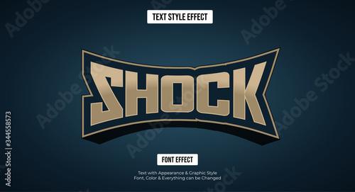 Fototapeta Gaming esport style text effect, Editable text effect obraz