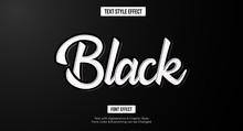 Black Text Effect, Editable Te...
