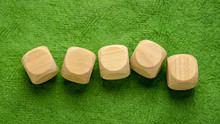 Blank Wooden Dice Cubes