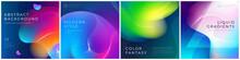 Set Of Square Liquid Color Abs...