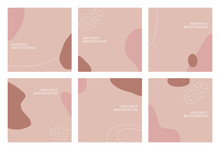 Abstract Background Design For Social Media Insta Story Feed Post. Doodle Scribble Shape Hand Drawn Object. Copy Space For Text. Instagram Square Flyer Banner