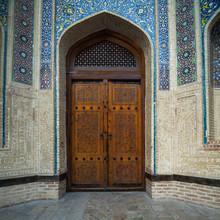 Ancient Door In The City Of Bukhara In Uzbekistan