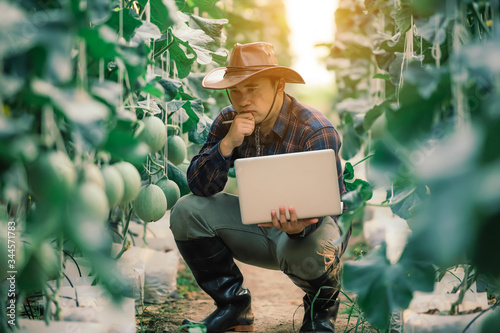 Photo Farming uses modern technology in agriculture