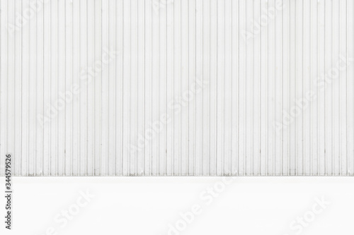 White corrugated metal background and surface surface surface Canvas