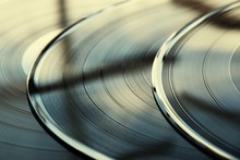 Close-up Of Records