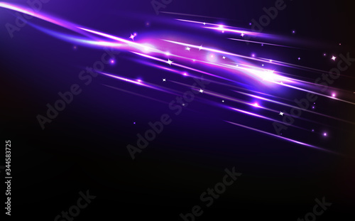Obraz Stars with light rays, abstract background galaxy cosmos and space, magic mystery, luxury product, curve line vibrate vector illustration - fototapety do salonu