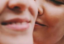 Young Couple Kissing And Smili...