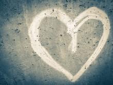 Heart Shape Graffiti On Wall