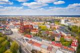 Fototapeta Uliczki - Aerial view of the city of Bialystok, Podlasie, Poland