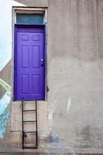 Purple Door With Ladder