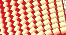 Moving Rectangular Shapes. Vivid Red And Yellow Colors. Ideal For Backgrounds. 2d.