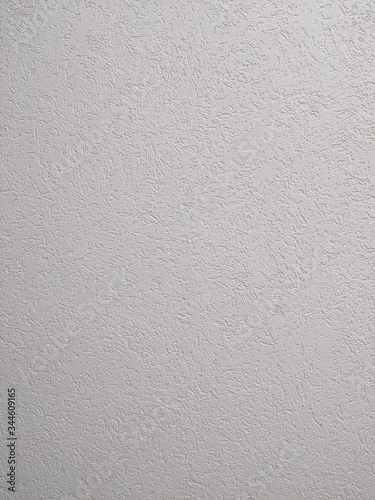 Clean cement plaster white wall background texture vertical orientation Wall mural