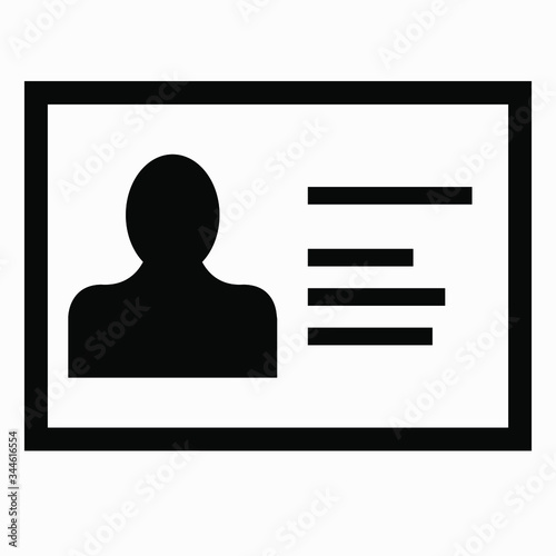 Fotografija Person accounting card icon