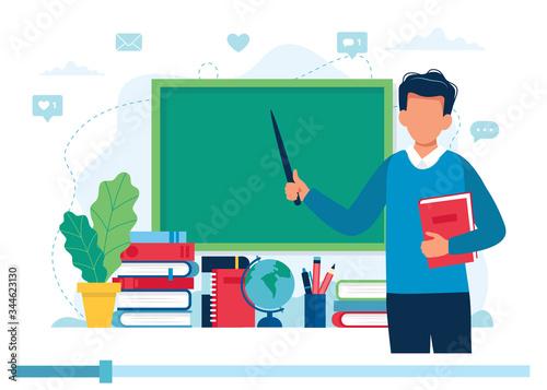 Online learning concept Fototapet