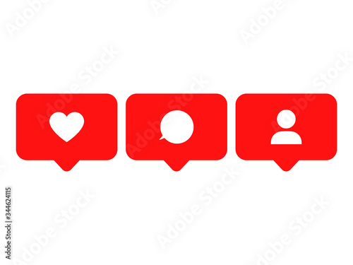 Photo Heart, speech babble and people icon vector illustration isolated on white