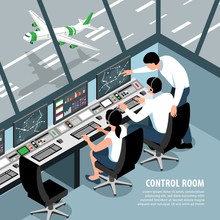 Air Control Room Background