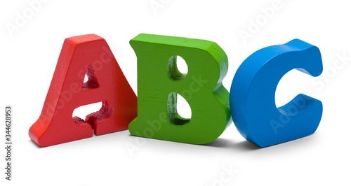 ABC Block Letters Canvas Print