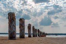 Row Of Pillars On The Coast Of...
