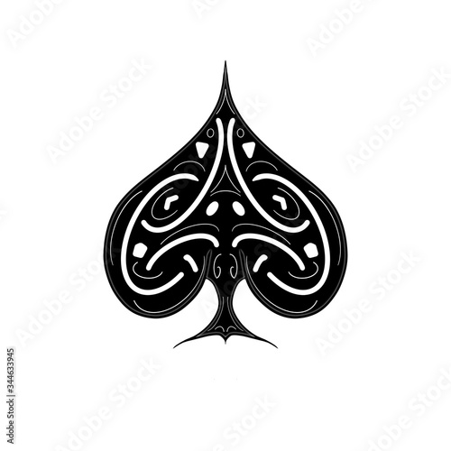 Photo ace of spades isolated on white