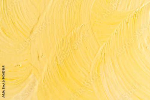 Yellow background with brush strokes