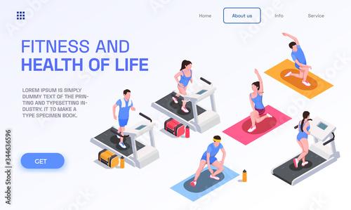 Obraz na plátně Running People Page Design