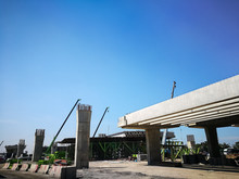 Road Bridge With Metal Rod Con...