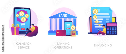 E banking icons set Poster Mural XXL