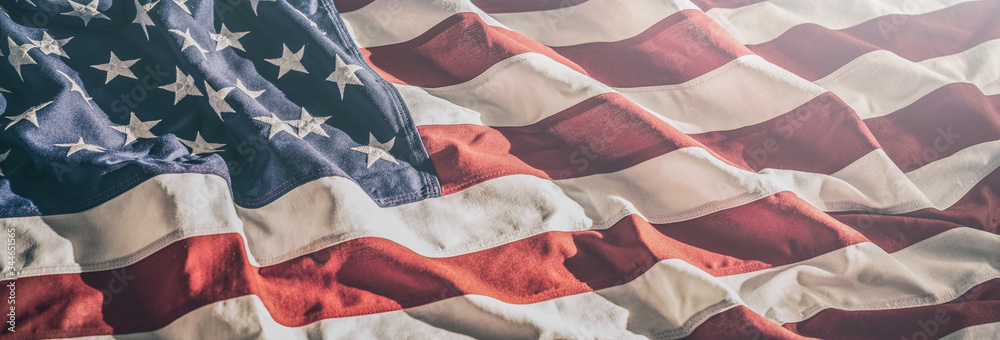 Fototapeta American flag for Memorial Day, 4th of July, Labour Day