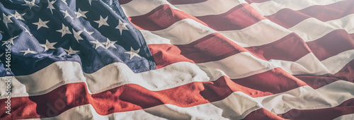 American flag for Memorial Day, 4th of July, Labour Day - 344651565