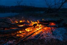 Twilight Fire Bonfire. Invitin...