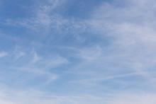 Blue Sky With Wispy Clouds