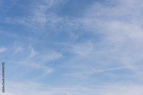 Slika na platnu Blue Sky with Wispy Clouds