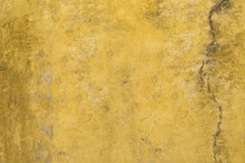 Yellow Grunge Cement Painted W...