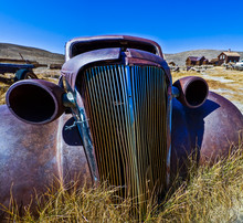 Remains Of A 1937 Chevy Coupe,...