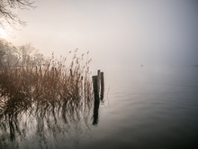 Lake In Foggy Weather