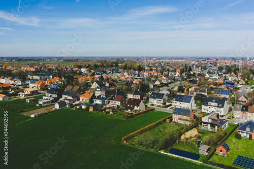 Photo Aerial view of a residential area in Sint Niklaas, Belgium