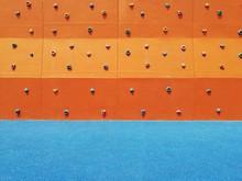 Handgrips On Climbing Wall